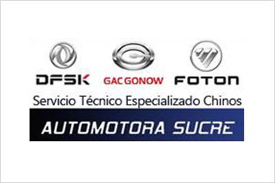 Automotora Sucre, Servicio Técnico Especializado Foton, DFSK, Gac Gonow